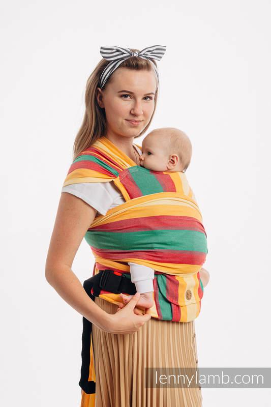 LennyHybrid Half Buckle Carrier, Standard Size, broken - twill weave (60% cotton, 40% bamboo) - SPRING #babywearing