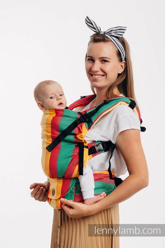 LennyUpGrade Carrier, Standard Size, broken-twill weave (60% cotton, 40% bamboo) - SPRING #babywearing