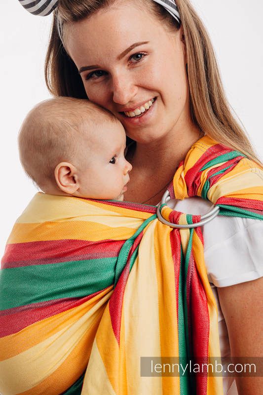 Ring Sling, Broken Twill Weave (40% bamboo + 60% cotton), with gathered shoulder - Spring - standard 1.8m #babywearing
