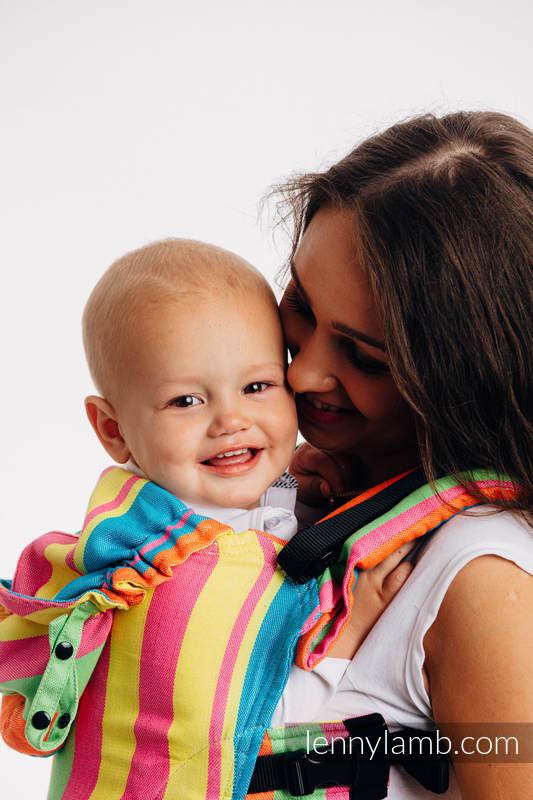LennyGo Ergonomic Carrier, Baby Size, broken-twill weave (bamboo + cotton) - PINACOLADA #babywearing