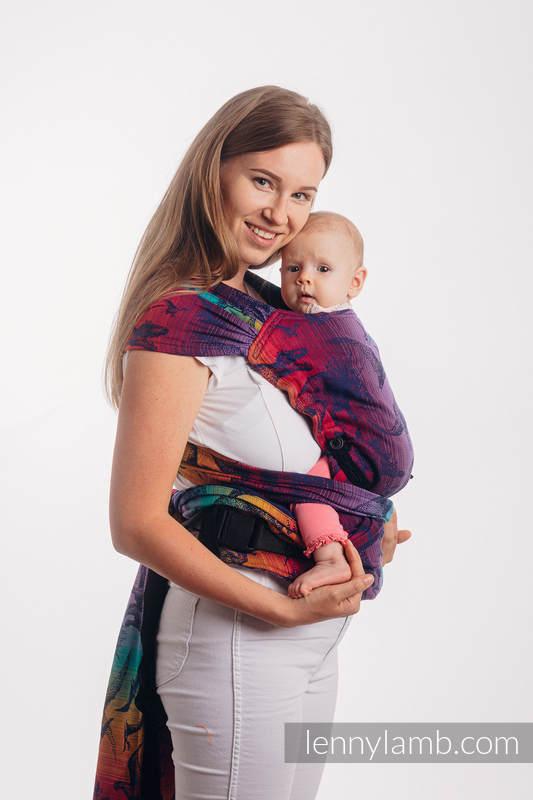 LennyHybrid Half Buckle Carrier, Standard Size, jacquard weave 100% cotton - JURASSIC PARK - NEW ERA #babywearing