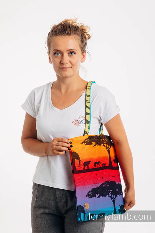 Shopping bag made of wrap fabric (100% cotton) - RAINBOW SAFARI 2.0 #babywearing