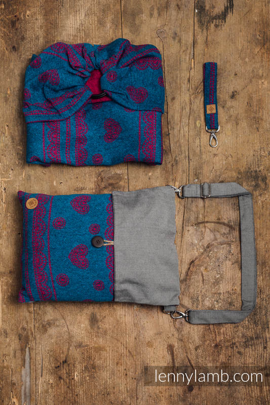 Ringsling, Jacquard Weave (69% silk noil, 31% combed cotton) with gathered shoulder - EXPERIMENT no.13 - standard 1.8m #babywearing