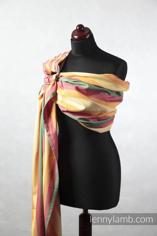 Bandolera de anillas - (60% algodón, 40% viscosa de bambú) - sarga cruzada, - SPRING - standard 1.8m #babywearing