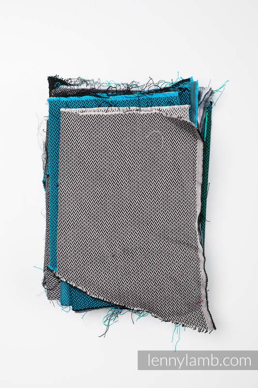 Scraps of wrap materials - Little Herringbone #babywearing