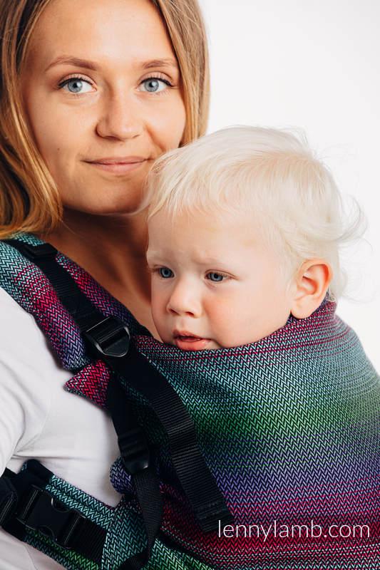Nosidełko LennyPreschool, splot jodełkowy, 100% bawełna, rozmiar preschool - MAŁA JODEŁKA IMPRESJA DARK #babywearing