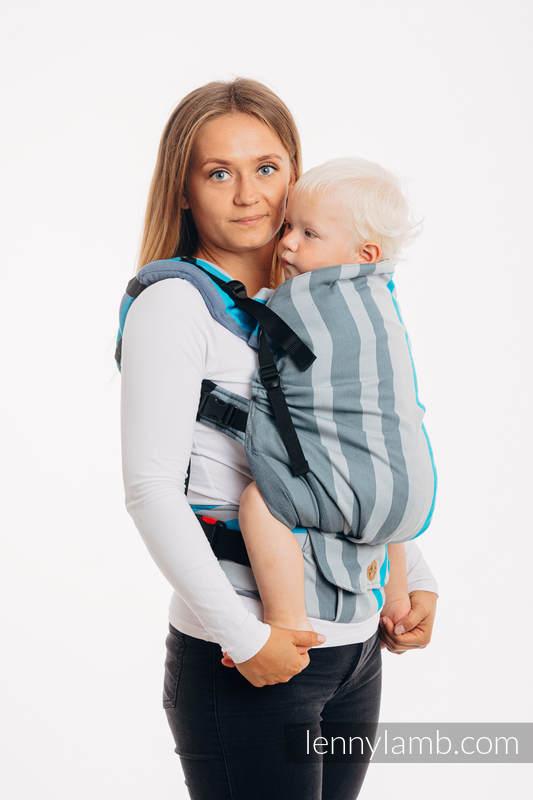 Nosidełko LennyPreschool  z tkaniny skośno-krzyżowej 100% bawełna, rozmiar preschool - MGLISTY PORANEK #babywearing