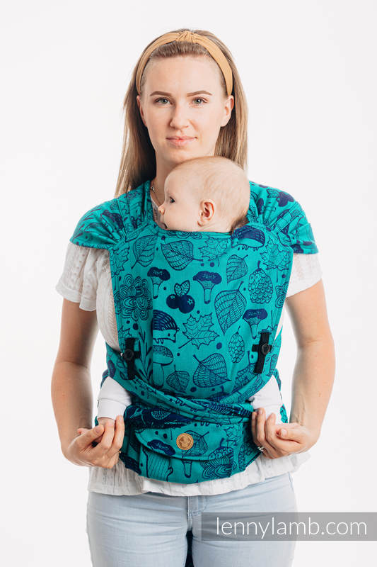 LennyHybrid Half Buckle Carrier, Standard Size, jacquard weave 100% cotton - UNDER THE LEAVES #babywearing