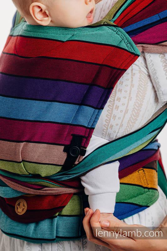 Nosidełko LennyHybrid Half Buckle, splot skośno-krzyżowy, 100% bawełna , rozmiar standard - KARUZELA BARW #babywearing