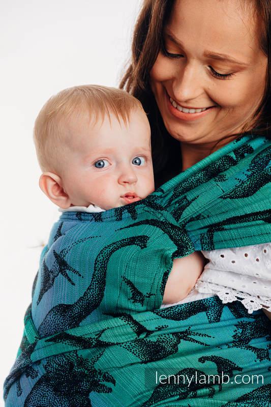 LennyHybrid Half Buckle Carrier, Standard Size, jacquard weave 100% cotton - JURASSIC PARK #babywearing