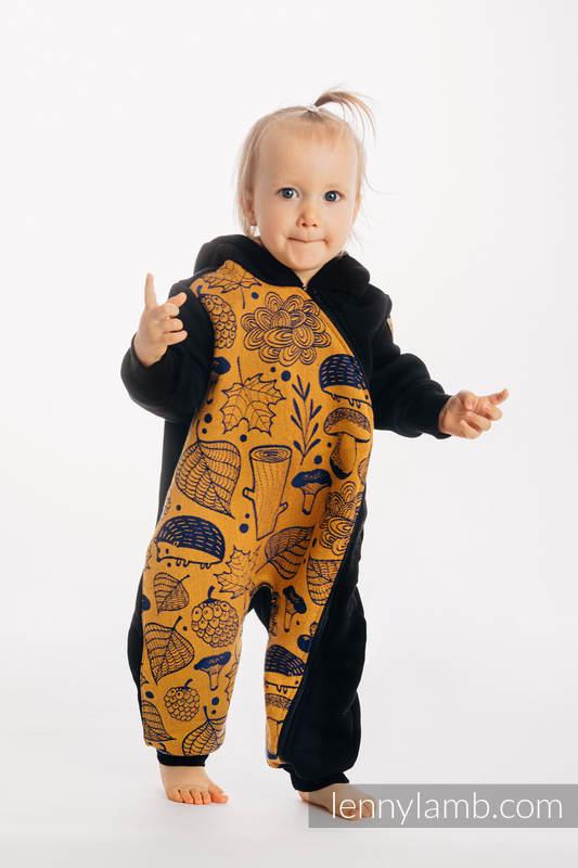Buzo de osito - talla 104 - Negro con Under the Leaves - Golden Autumn #babywearing