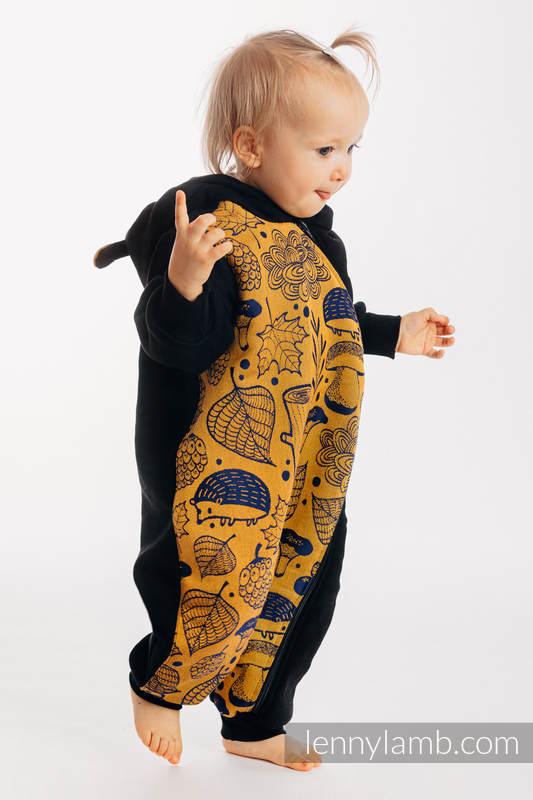 Bear Romper - size 110 - Black & Under the Leaves - Golden Autumn #babywearing