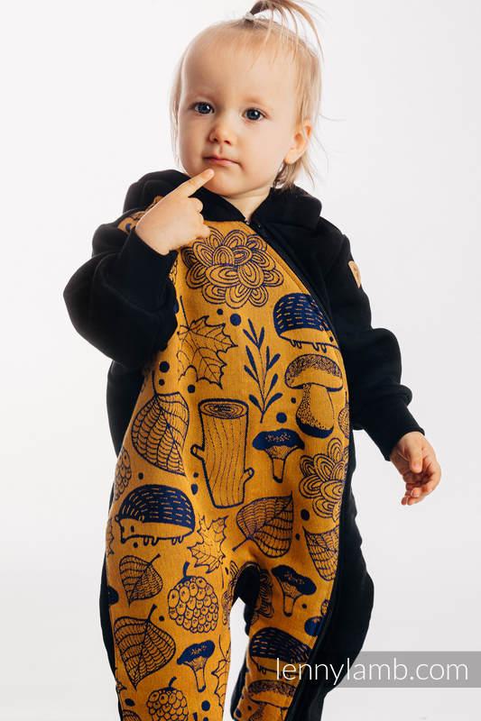 Pajacyk misiowy - rozmiar 62 - Czarny z Pod Liściem - Złota Jesień  #babywearing