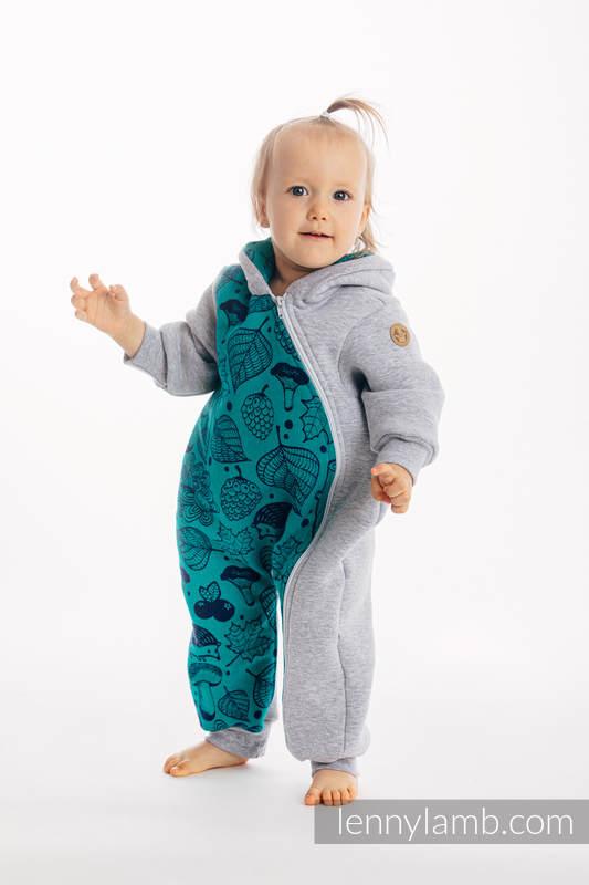 Buzo de osito - talla 104 - Mezcla de Grises con Under the Leaves #babywearing