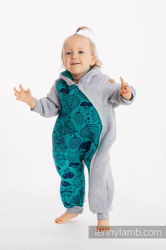 Pajacyk misiowy - rozmiar 104 - Szary Melanż z Pod Liściem #babywearing