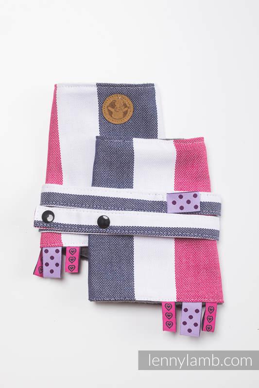 Set de protege tirantes y tiras de alcance (Outer fabric - 60% algodón, 40% viscosa de bambú; Lining - 100% Poliéster) - MARINA (grado B) #babywearing