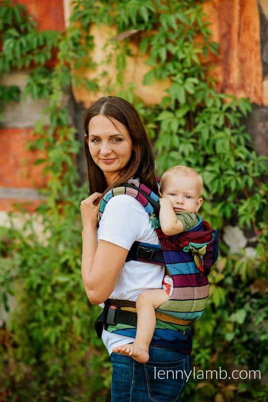 LennyGo Ergonomische Tragehilfe ,Größe Toddler , Kreuzköper-Bindung, 100% Baumwolle - CAROUSEL OF COLORS #babywearing