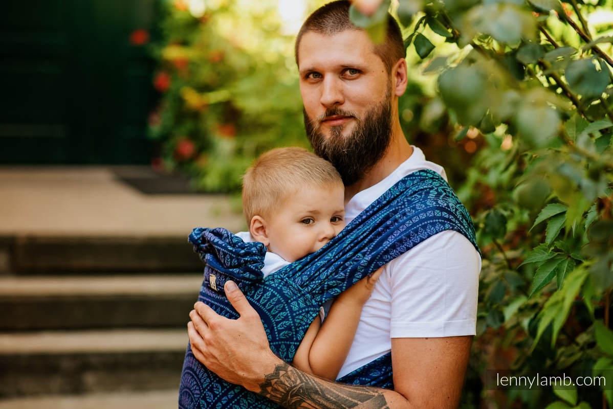 Nosidełko LennyHybrid Half Buckle, splot żakardowy, 100% bawełna , rozmiar standard - PAWI OGON PROWANSJA #babywearing