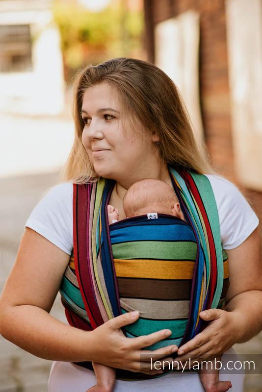 Fular, sarga cruzada -100% Algodón - CAROUSEL OF COLORS - talla M #babywearing