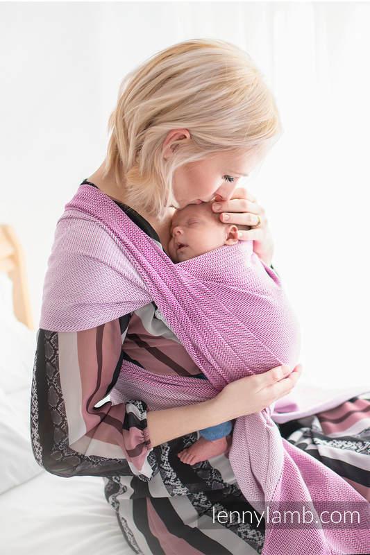 Baby sling for babies with low birthweight, Herringbone Weave (100% cotton) - LITTLE HERRINGBONE PURPLE - size S #babywearing