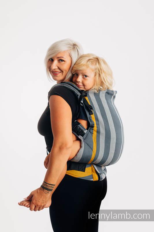Nosidełko LennyPreschool  z tkaniny skośno-krzyżowej 100% bawełna, rozmiar preschool - SMOKY - MIÓD #babywearing