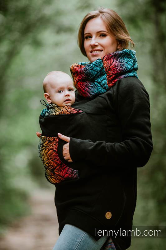Babywearing Sweatshirt 3.0 - Black with Wild Soul Daedalus - size 5XL #babywearing
