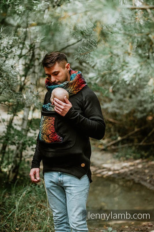 Babywearing Sweatshirt 3.0 - Black with Wild Soul Daedalus - size 3XL #babywearing