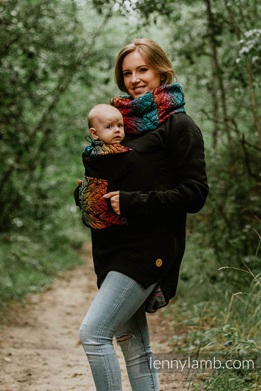 Babywearing Sweatshirt 3.0 - Black with Wild Soul Daedalus - size 4XL #babywearing