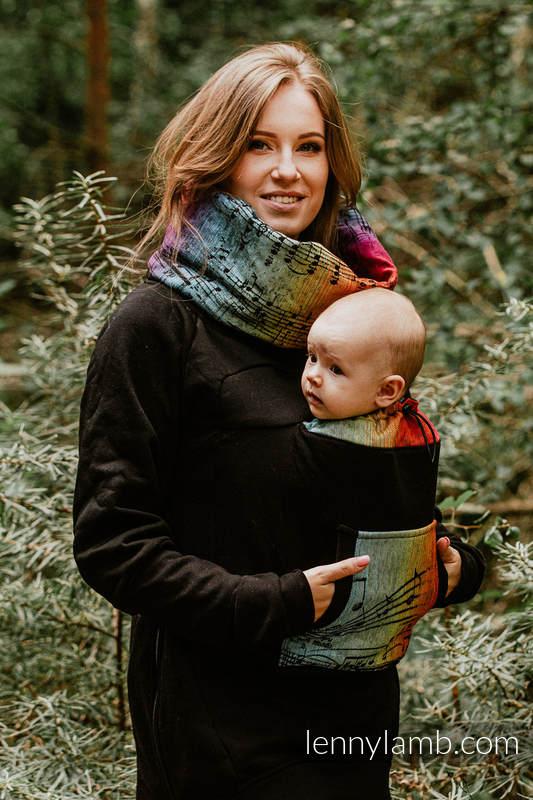 Babywearing Sweatshirt 3.0 - Black with Symphony Rainbow Dark - size 6XL #babywearing