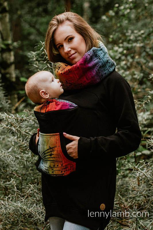 Babywearing Sweatshirt 3.0 - Black with Symphony Rainbow Dark - size XXL #babywearing