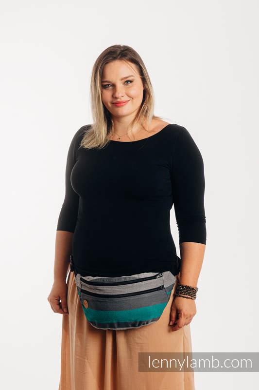 Saszetka z tkaniny chustowej, rozmiar large (100% bawełna) - SMOKY - MIĘTA  #babywearing