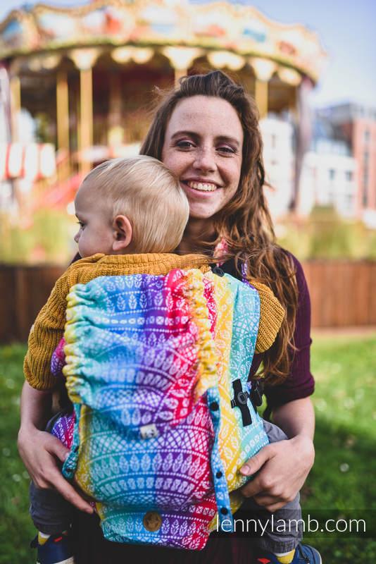 LennyUpGrade Tragehilfe, Größe Standard, Jacquardwebung, 100% Baumwolle - PEACOCK'S TAIL - FUNFAIR  #babywearing