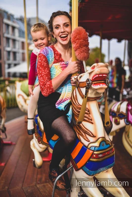 Żakardowa chusta do noszenia dzieci, bawełna - PAWI OGON - FUNFAIR - rozmiar L (drugi gatunek) #babywearing