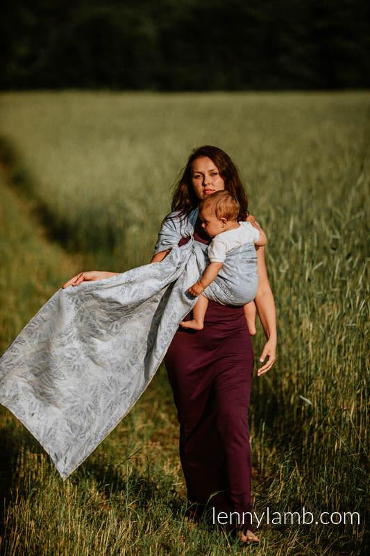 RingSling, Jacquardwebung (65% Baumwolle, 35% Leinen) - QUEEN OF THE NIGHT - ONLY SILENCE - long 2.1m #babywearing