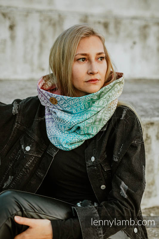 Snood Scarf (100% cotton) - PEACOCK'S TAIL - BUBBLE & QUARTZ #babywearing