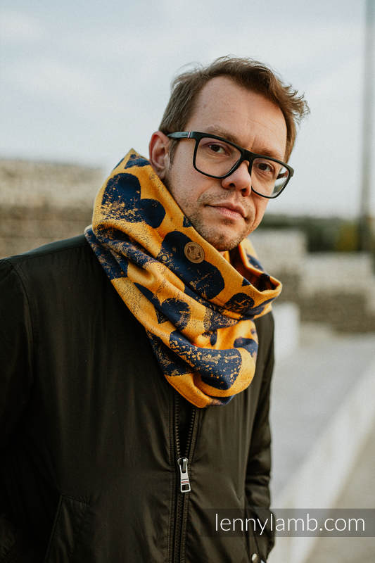 Snood Scarf (100% cotton) - LOVKA MUSTARD & NAVY BLUE & ABMER #babywearing