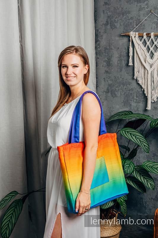 Shoulder bag made of wrap fabric (100% cotton) - RAINBOW BABY - standard size 37cmx37cm #babywearing