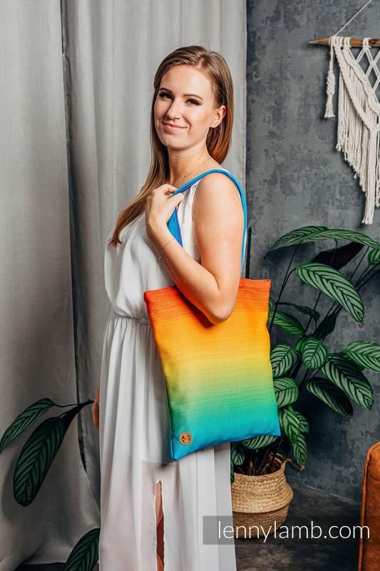 Shopping bag made of wrap fabric (100% cotton) - RAINBOW BABY #babywearing