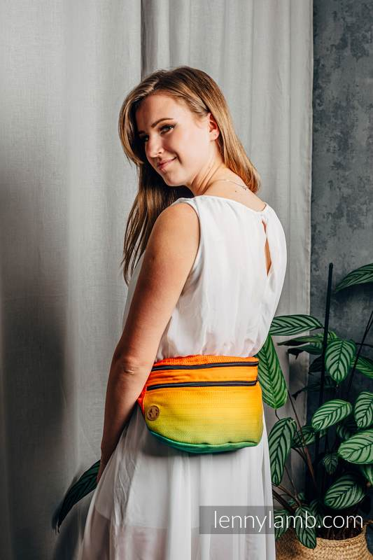 Waist Bag made of woven fabric, size large (100% cotton) - RAINBOW BABY #babywearing