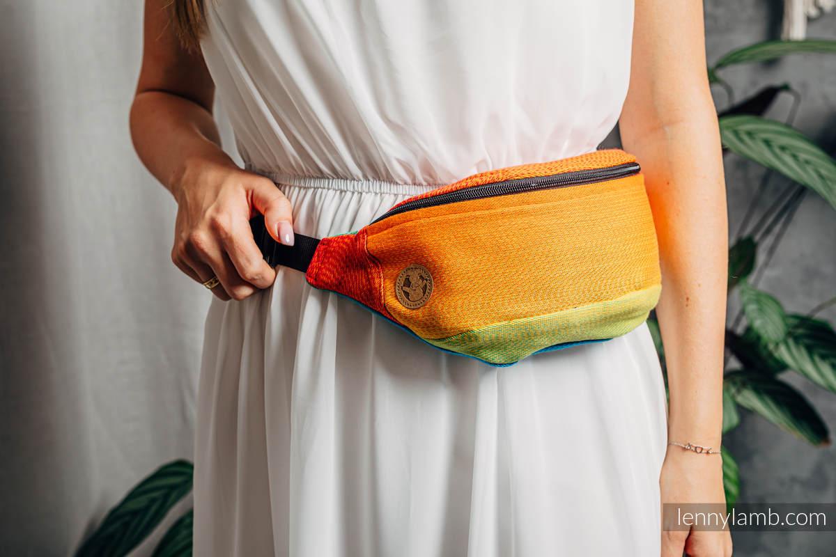 Waist Bag made of woven fabric, (100% cotton) - RAINBOW BABY #babywearing