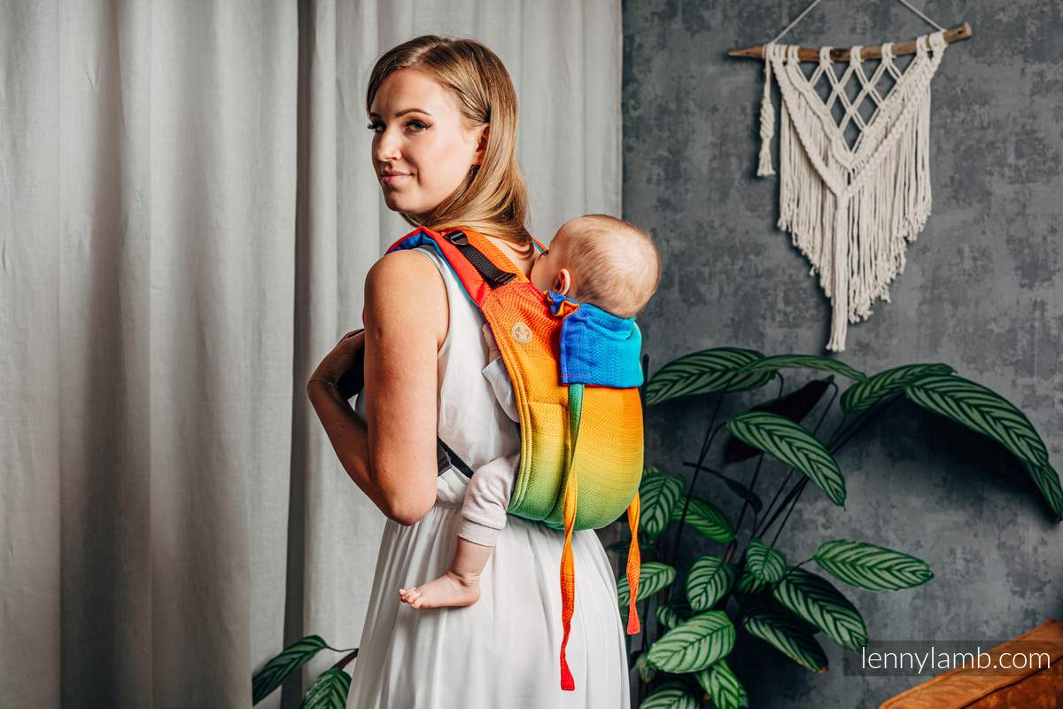 Lenny Buckle Onbuhimo baby carrier, standard size, jacquard weave (100% cotton) - RAINBOW BABY #babywearing
