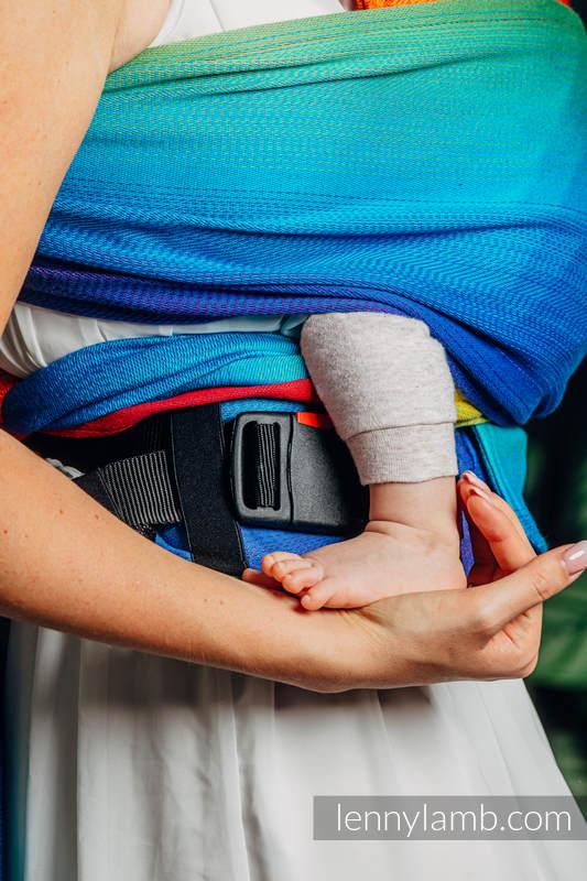 Nosidełko LennyHybrid Half Buckle, splot żakardowy, 100% bawełna , rozmiar standard - TĘCZOWE DZIECKO #babywearing