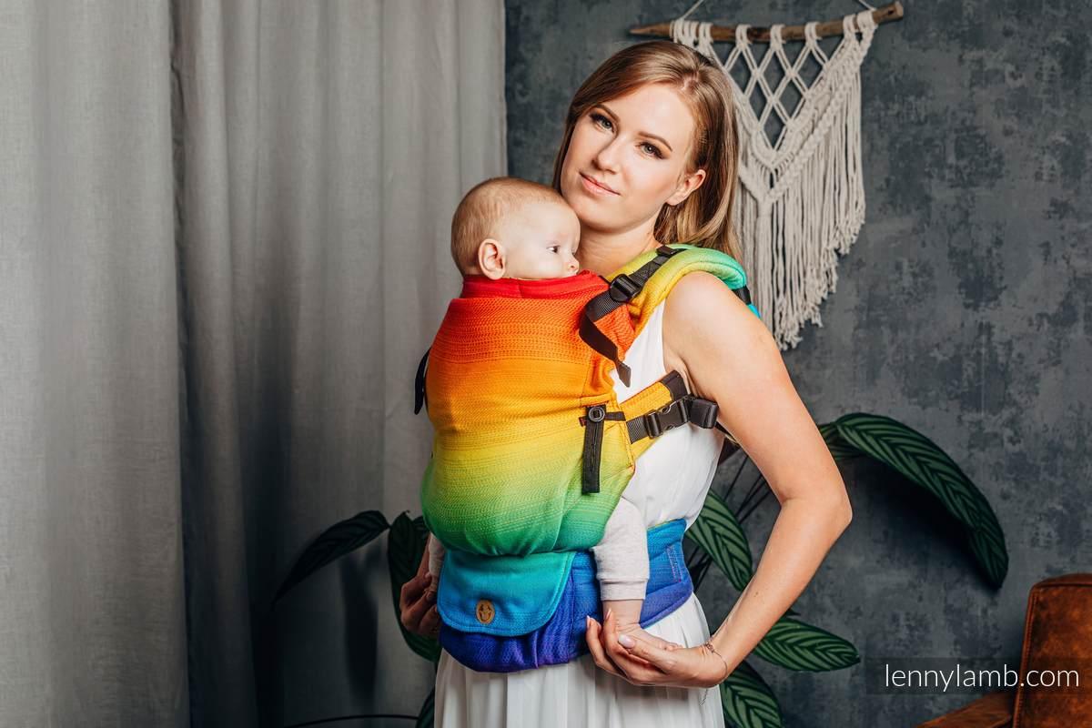 Porte-bébé LennyUpGrade, taille standard, jacquard, 100% coton - RAINBOW BABY #babywearing