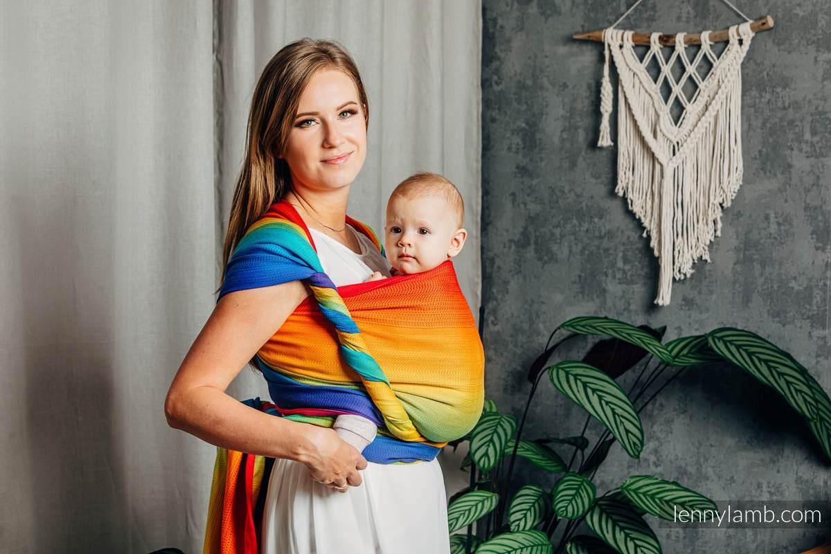 Baby Wrap, Jacquard Weave (100% cotton) - RAINBOW BABY - size XS #babywearing
