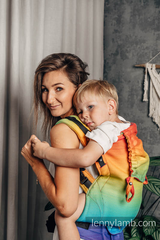 LennyPreschool Carrier, Preschool Size, jacquard weave 100% cotton - RAINBOW BABY #babywearing