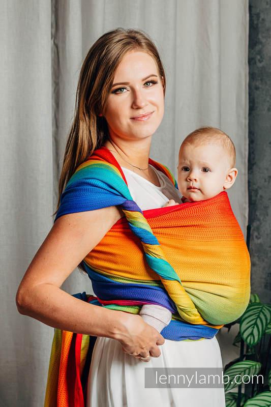 Żakardowa chusta do noszenia dzieci, bawełna - TĘCZOWE DZIECKO - rozmiar S #babywearing