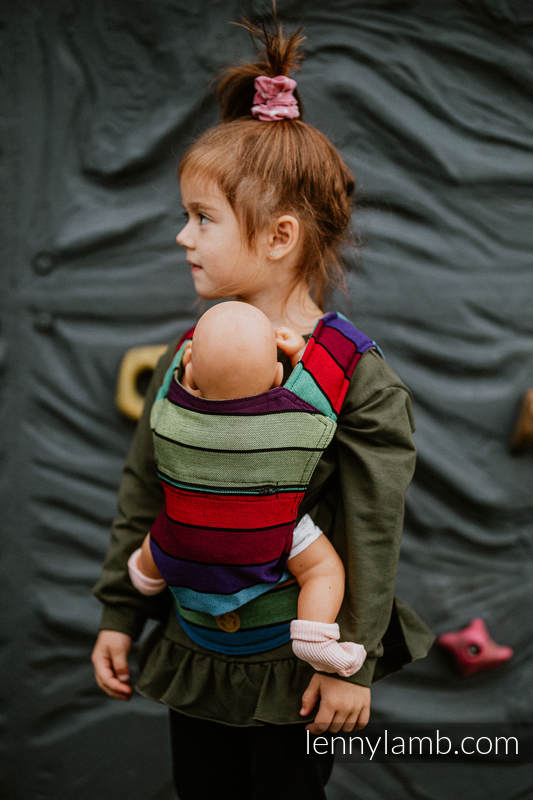 Doll Carrier made of woven fabric, 100% cotton - CAROUSEL OF COLORS #babywearing