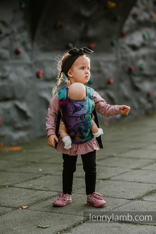 Puppentragehilfe, hergestellt vom gewebten Stoff (100% Baumwolle) - JURASSIC PARK - NEW ERA #babywearing