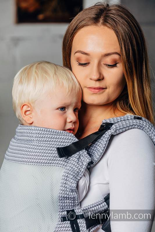 LennyUpGrade Mesh Carrier, Standard Size, tessera weave (75% cotton, 25% polyester) - BASIC LINE SELENITE #babywearing