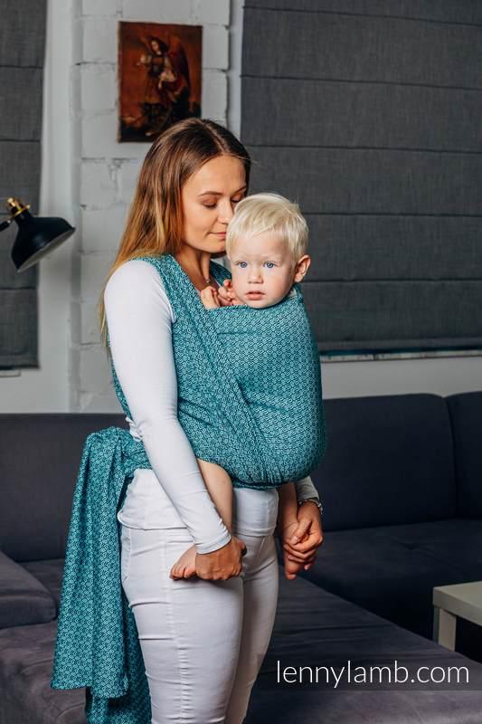 Moja druga chusta do noszenia dzieci - LITTLELOVE - AMAZONIT, splot żakardowy (100% bawełna) - rozmiar XS #babywearing